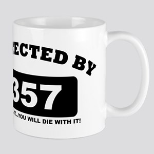 property of protected by 357 b Mug